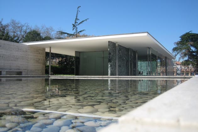 Barcelona Pavilion Of Mies Van Der Rohe Less Is More South